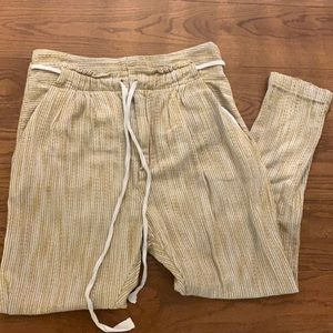 FREE PEOPLE comfy Striped cotton Pants/Joggers